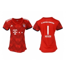 2018-2019 Women Bayern Munich home aaa version 1 Club Soccer Jersey