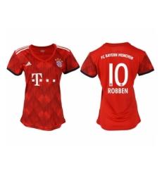 2018-2019 Women Bayern Munich home aaa version 10 Club Soccer Jersey