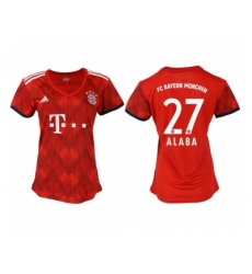 2018-2019 Women Bayern Munich home aaa version 27 Club Soccer Jersey
