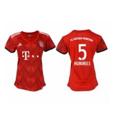2018-2019 Women Bayern Munich home aaa version 5 Club Soccer Jersey
