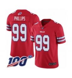 Men's Buffalo Bills #99 Harrison Phillips Limited Red Rush Vapor Untouchable 100th Season Football Jersey