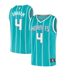 Men's Charlotte Hornets #4 Devonte' Graham Fanatics Branded Teal 2020-21 Fast Break Replica Jersey