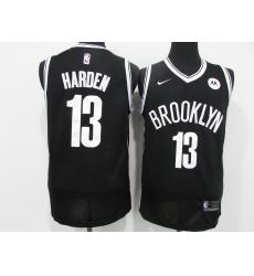 Men's Nike Brooklyn Nets #13 James Harden Authentic Black Basketball Jersey