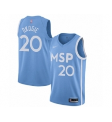 Youth Minnesota Timberwolves #20 Josh Okogie Swingman Blue Basketball Jersey - 2019 20 City Edition