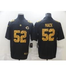 Men's Chicago Bears #52 Khalil Mack Black Nike Leopard Print Limited Jersey