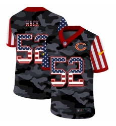 Men's Chicago Bears #52 Khalil Mack Camo Flag Nike Limited Jersey