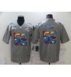 Men's Chicago Bears #52 Khalil Mack Gray Rainbow Version Nike Limited Jersey