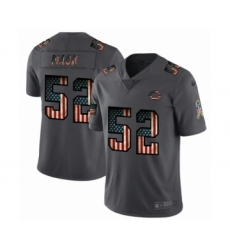 Men's Chicago Bears #52 Khalil Mack Limited Black USA Flag 2019 Salute To Service Football Jersey