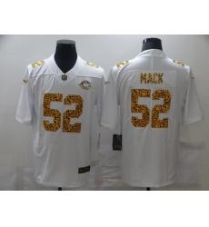 Men's Chicago Bears #52 Khalil Mack White Nike Leopard Print Limited Jersey