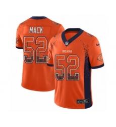 Men's Nike Chicago Bears #52 Khalil Mack Limited Orange Rush Drift Fashion NFL Jersey