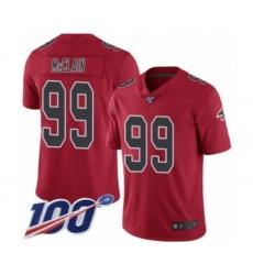 Men's Atlanta Falcons #99 Terrell McClain Limited Red Rush Vapor Untouchable 100th Season Football Jersey