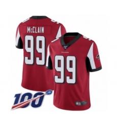 Men's Atlanta Falcons #99 Terrell McClain Red Team Color Vapor Untouchable Limited Player 100th Season Football Jersey