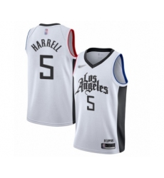 Youth Los Angeles Clippers #5 Montrezl Harrell Swingman White Basketball Jersey - 2019 20 City Edition