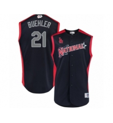 Men's Los Angeles Dodgers #21 Walker Buehler Authentic Navy Blue National League 2019 Baseball All-Star Jersey