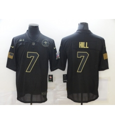 Men's New Orleans Saints #7 Taysom Hill Black Nike 2020 Salute To Service Limited Jersey