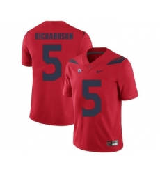 Arizona Wildcats 5 Shaquille Richardson Red College Football Jersey