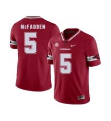 Arkansas Razorbacks 5 Jeremiah McFadden Red College Football Jersey