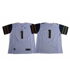 California Golden Bears 1 DeSean Jackson White College Football Jersey