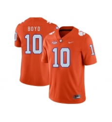 Clemson Tigers 10 Tajh Boyd Orange Nike College Football Jersey
