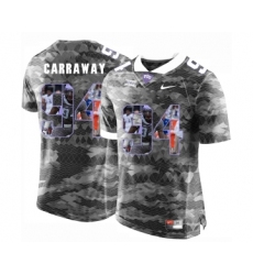 TCU Horned Frogs 94 Josh Carraway Gray With Portrait Print College Football Limited Jersey