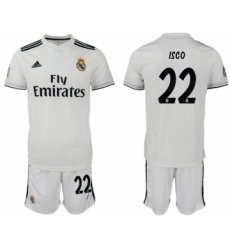 2018-19 Real Madrid 22 ISCO Home Soccer Jersey