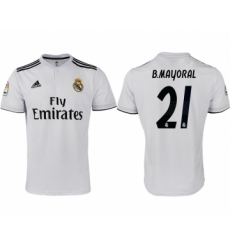 2018-19 Real Madrid 21 B.MAYORAL Home Thailand Soccer Jersey