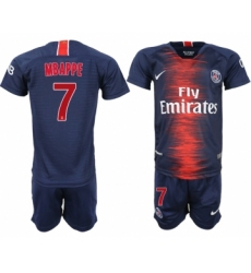2018-19 Paris Saint-Germain 7 MBAPPE Home Youth Soccer Jersey