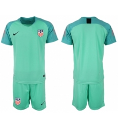 2018-19 USA Green Goalkeeper Soccer Jersey
