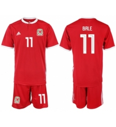 2018-19 Welsh 11 BALE Home Soccer Jersey