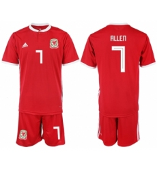 2018-19 Welsh 7 ALLEN Home Soccer Jersey