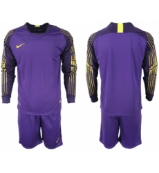 2018-19 USA Purple Goalkeeper Long Sleeve Soccer Jersey