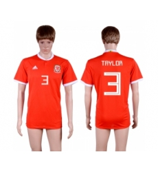 2018-19 Wales 3 TAYLOR Home Thailand Soccer Jersey
