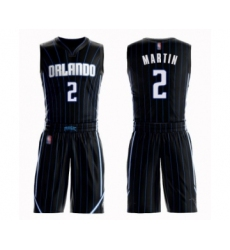 Men's Orlando Magic #2 Jarell Martin Swingman Black Basketball Suit Jersey Statement Edition