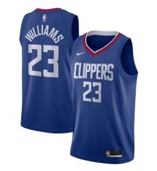 Men's LA Clippers #23 Lou Williams Nike Royal 2020-21 Swingman Jersey