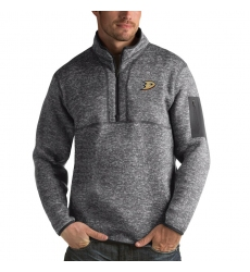 Men's Anaheim Ducks Antigua Fortune Quarter-Zip Pullover Jacket Black