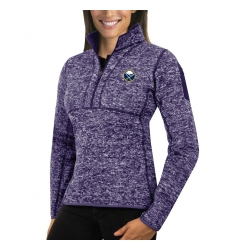 Buffalo Sabres Antigua Women's Fortune Zip Pullover Sweater Purple