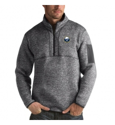 Men's Buffalo Sabres Antigua Fortune Quarter-Zip Pullover Jacket Black