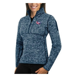 Columbus Blue Jackets Antigua Women's Fortune Zip Pullover Sweater Royal