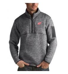 Men's Detroit Red Wings Antigua Fortune Quarter-Zip Pullover Jacket Black