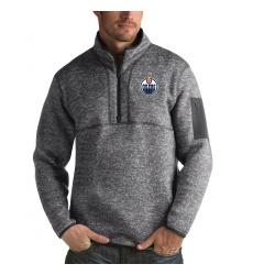 Men's Edmonton Oilers Antigua Fortune Quarter-Zip Pullover Jacket Black