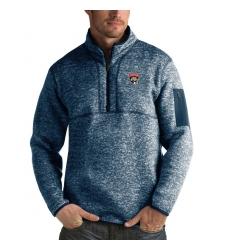 Men's Florida Panthers Antigua Fortune Quarter-Zip Pullover Jacket Royal