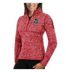 Los Angeles Kings Antigua Women's Fortune Zip Pullover Sweater Red