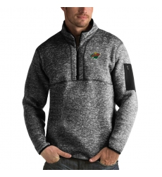Men's Minnesota Wild Antigua Fortune Quarter-Zip Pullover Jacket Charcoal