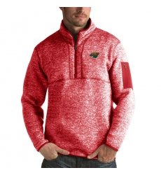 Men's Minnesota Wild Antigua Fortune Quarter-Zip Pullover Jacket Red