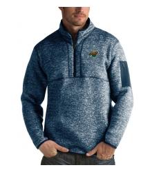 Men's Minnesota Wild Antigua Fortune Quarter-Zip Pullover Jacket Royal