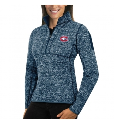 Montreal Canadiens Antigua Women's Fortune Zip Pullover Sweater Royal