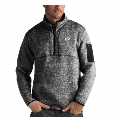 Men's Nashville Predators Antigua Fortune Quarter-Zip Pullover Jacket Charcoal