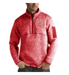 Men's Nashville Predators Antigua Fortune Quarter-Zip Pullover Jacket Red