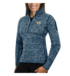 Nashville Predators Antigua Women's Fortune Zip Pullover Sweater Royal
