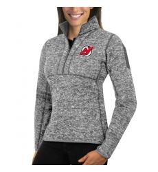 New Jersey Devils Antigua Women's Fortune Zip Pullover Sweater Black